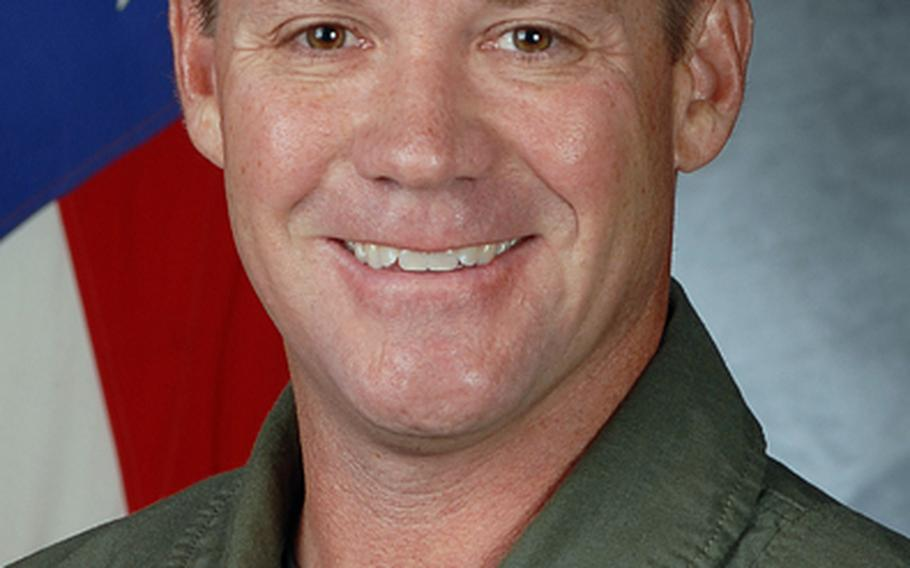 Lt. Col. James Wilkerson in a photo taken while he served as the 80th Fighter Squadron commander at Kunsan Air Base, South Korea. He left Kunsan in 2011.
