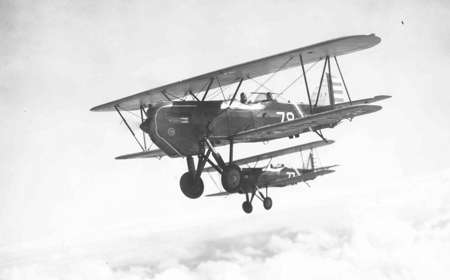 The Curtiss A-3B, developed and modified by the military in the 1930s, featured the standard dual machine guns but was also capable of carrying a 200-pound bomb.