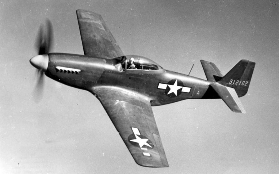 The P-51 Mustangs saw action in almost every combat zone of WWII, escorting bombers in the Pacific and destroying nearly 5,000 enemy aircraft in the air, according to an Air Force fact sheet. During the war, 14,855 Mustangs were ordered for production, most of which carried six .50-caliber machine guns and up to 2,000 pounds of bombs.