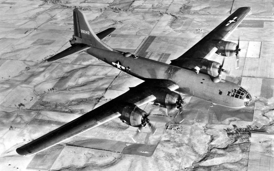 Boeing made at least 20 versions of the B-29 Superfortress bomber, and it was the Enola Gay that became an iconic weapon of World War II, dropping an atomic bomb over Hiroshima, Japan, Aug. 6, 1945. The B-29 featured a pressurized cabin and range of up to 3,250 miles when carrying 20,000 pounds of bombs.