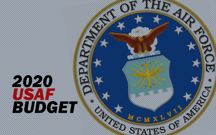 The Air Force requested $204.8 billion for fiscal year 2020 as the service looks toward building a larger, more modern force.