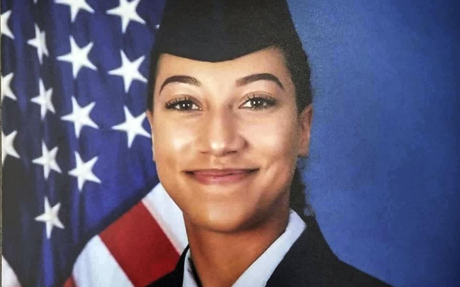 Airman 1st Class Natasha Raye Aposhian.