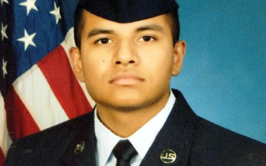 Senior Airman Richard Samaroo, 21, of North Brunswick, N.J., was found dead at Osan Air Base, South Korea, Monday, Nov. 2, 2020.