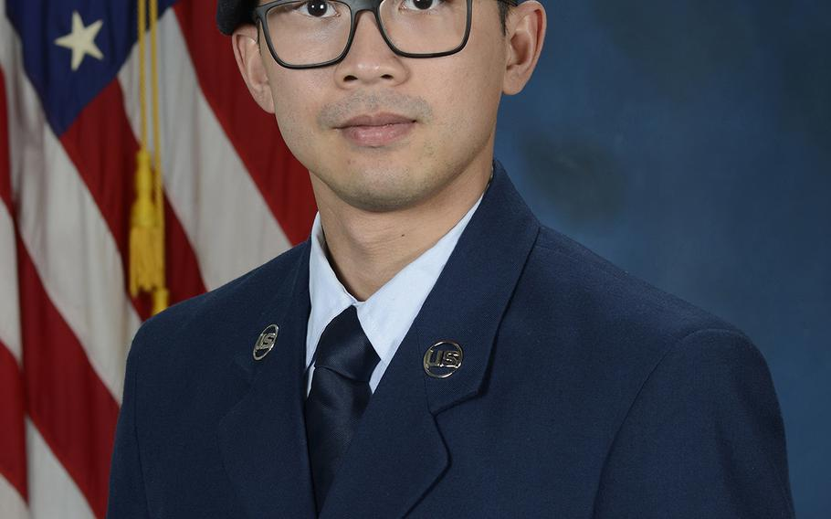 Senior Airman Jason Khai Phan, seen in 2019 as an airman first class, of the 66th Security Forces Squadron, of Anaheim, Calif., died as a result of non-combat-related injuries while conducting a routine patrol outside the perimeter of Ali Al Salem Air Base, Kuwait, on Saturday, Sept. 12, 2020.