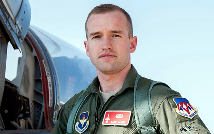 1st Lt. Kenneth ''Kage'' Allen was killed Monday, June 15, 2020, when his F-15C crashed in the North Sea during routine training.