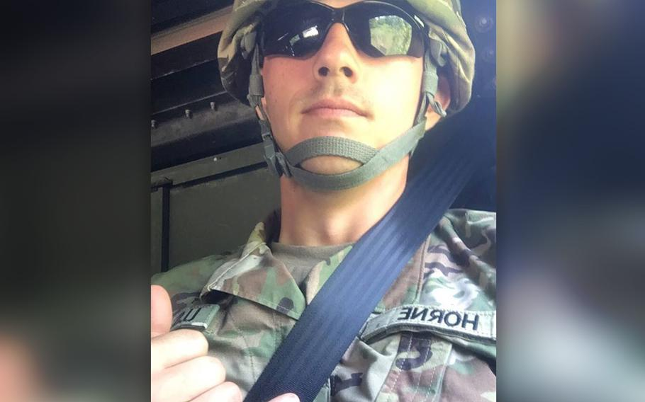 U.S. Army Spc. Clayton James Horne, 23, died Saturday, Aug. 17, 2019, in the Saudi capital of Riyadh from wounds that he sustained in a noncombat incident