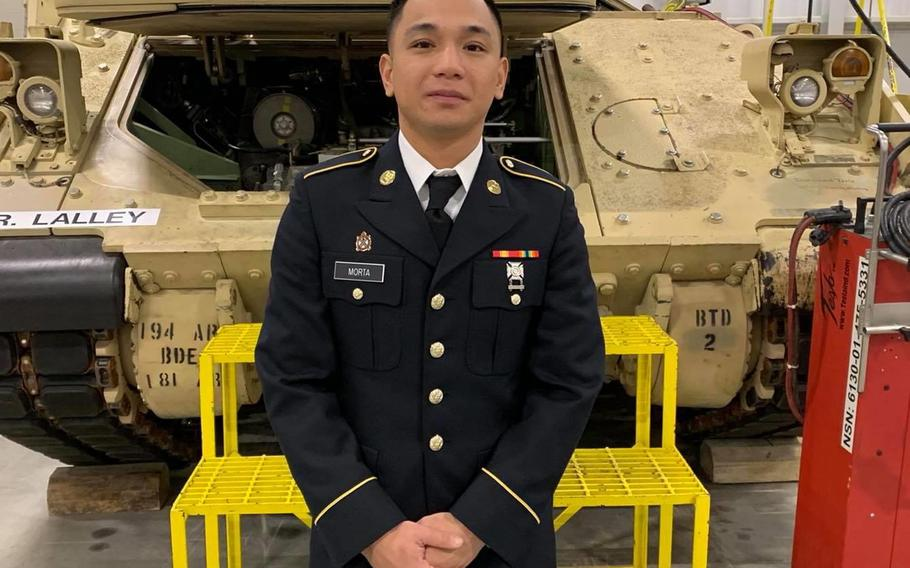 Pvt. Mejhor Morta, 26, of Pensacola, Fla., was found dead Friday near a lake about 15 miles from Fort Hood,  officials said Tuesday.