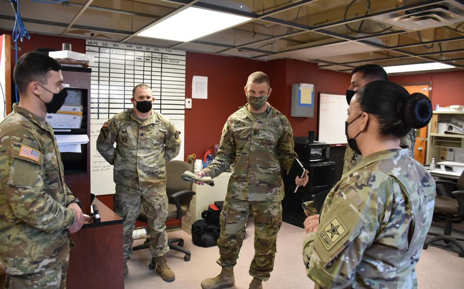 After hearing concerns from leadership at Fort Hood, Texas, about the conditions of the barracks, Sgt. Maj. of the Army Michael Grinston toured the living space of soldiers in the 3rd Cavalry Regiment. He also spoke with leaders about how to address soldiers' concerns while waiting for pledged funding to be released for renovations.