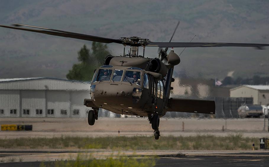The UH-60 Black Hawk crashed just after 8 p.m. local time Tuesday night, killing everyone aboard, according to an Idaho National Guard statement.