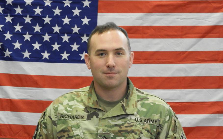 Staff Sgt. Kelly L. Richards, 32, died during testing to earn the Army's Expert Field Medic Badge in South Korea.