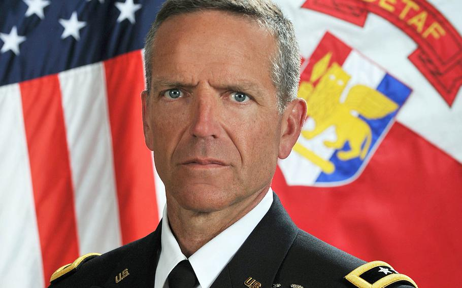 Maj. Gen. Andrew M. Rohling took command of U.S. Army Africa at a ceremony at Caserma Ederle in Vicenza, Italy, July 15, 2020.