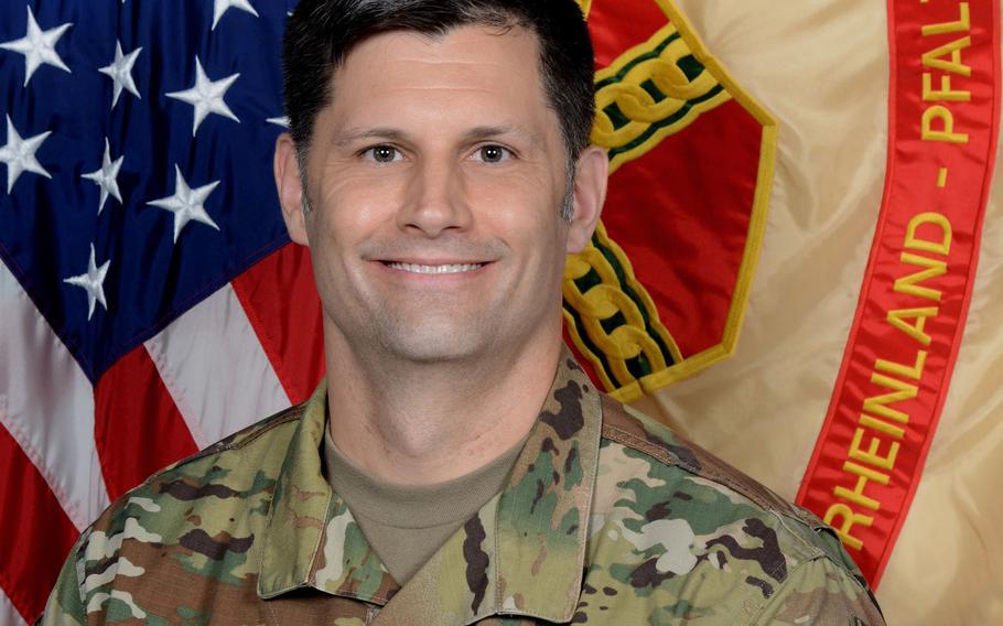 Col. Vance J. Klosinski took command of U.S. Army Garrison Rheinland-Pfalz from Col. Jason Edwards at a ceremony in Kaiserslautern, Germany, July 22, 2020.