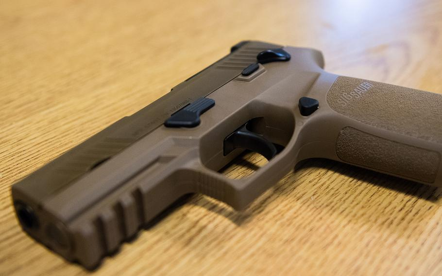 The Marine Corps has begun fielding the Sig Sauer M18 handgun, which will replace pistol models the service has been using since the 1980s.