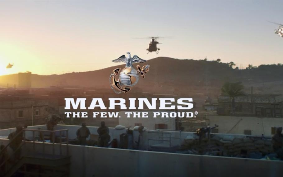 A screen shot from a U.S. Marine Corps recruiting video. The  Corps has put out a casting call for active duty and reserve Marines to participate in the service?s latest recruiting campaign.