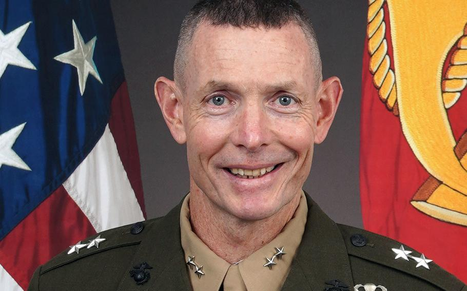 Maj. Gen. Stephen M. Neary took command of U.S. Marine Corps Forces Europe and Africa on Wednesday, July 8, 2020, during a ceremony at the unit's Panzer Kaserne headquarters in Boeblingen, Germany.