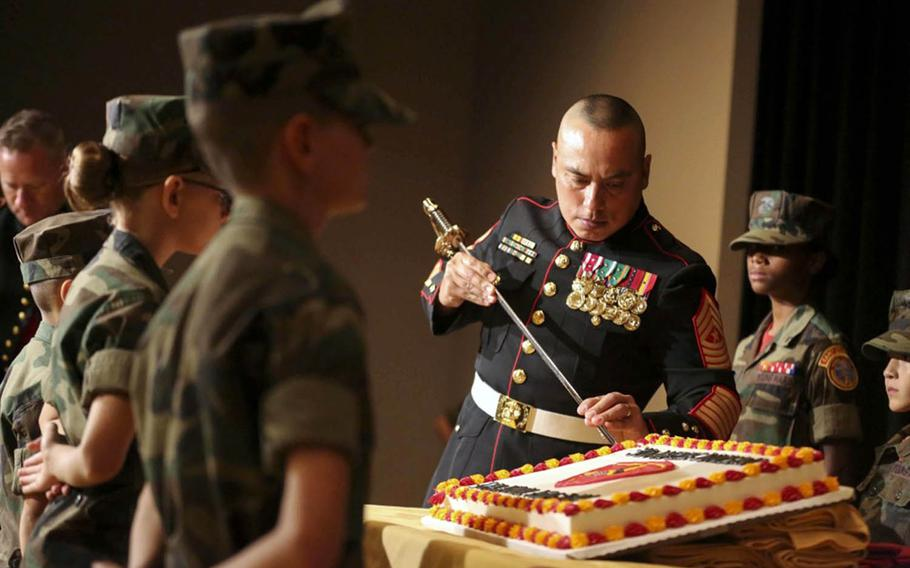 The traditional Marine Corps birthday festivities, such as cutting a cake and the presentation of colors, will look different this year amid the coronavirus pandemic.