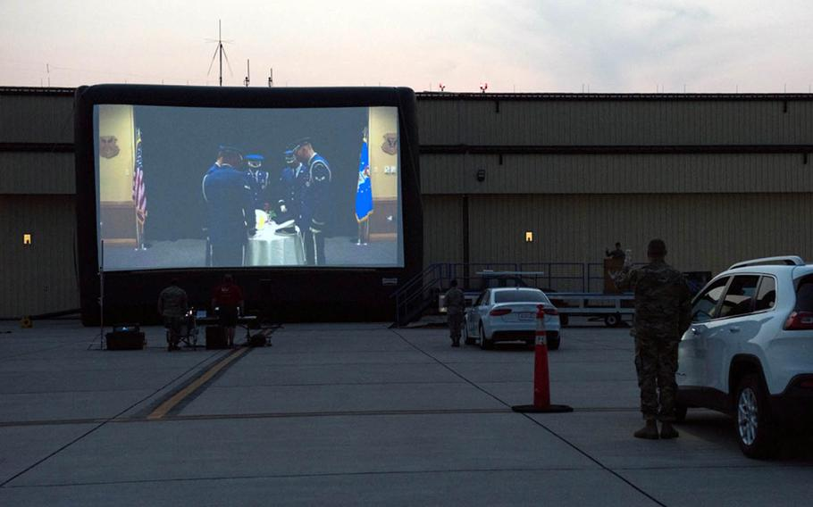 Because of the coronavirus pandemic, Whiteman Air Force Base, Mo., honored the Air Force's 73rd birthday with a drive-in event.