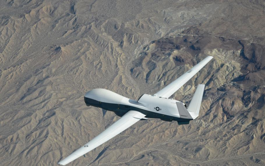 The MQ-4C Triton drone, made by Northrop Grumman for the U.S. Navy, completed its ninth test flight, which was reported by the defense manufacturer Jan. 6, 2014.