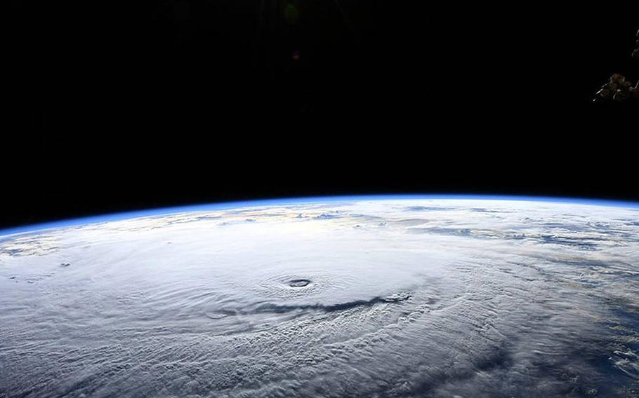 NASA astronaut Ricky Arnold photographed Hurricane Lane in the Pacific Ocean during a flyover from the International Space Station. He shared the image on social media Aug. 22, 2018.