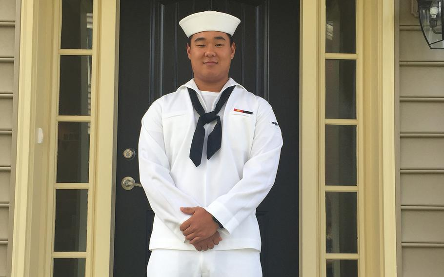 Seaman Apprentice Joseph Min Naglak, 21, was killed after being struck by a plane propeller aboard the USS George H.W. Bush on Monday, Sept. 18, 2018.