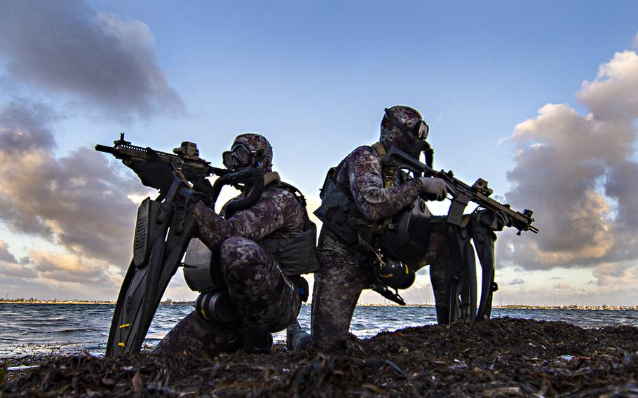 Members of Naval Special Warfare Group 2 conduct military dive operations of the East Coast of the United States. The elite group is under scrutiny because of problems in the ranks that have ranged in recent years from allegations of war crimes committed against detained enemies and civilians and drug use to complaints of sexual assault, child pornography and molestation.