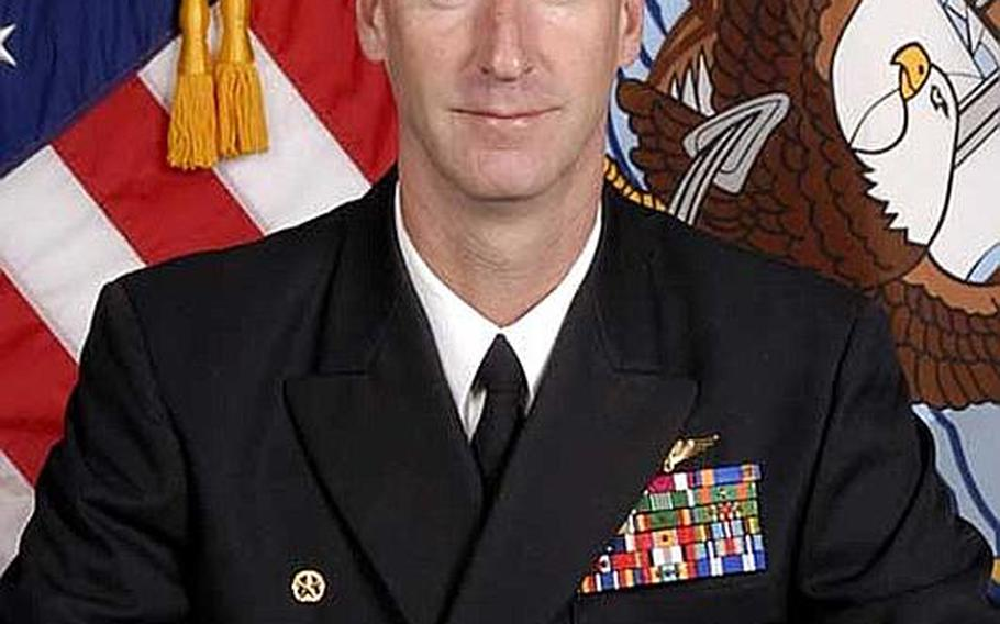 Cmdr. Jonathan Jackson, commanding officer of Electronic Attack Squadron (VAQ) 134, relieved Dec. 8, 2011.