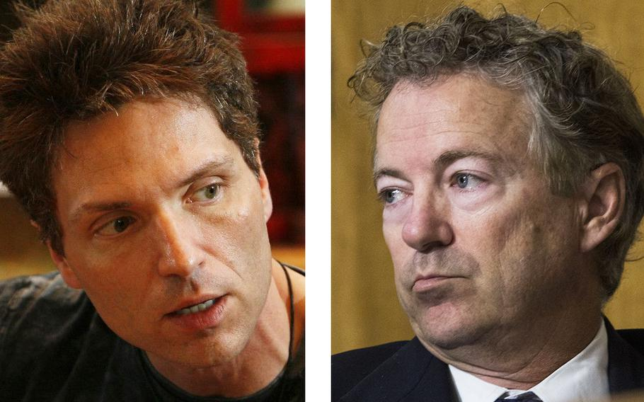 Songwriter Richard Marx, left, Tweeted that he would buy drinks for Sen. Rand Paul's neighbor, who broke several of the senator's ribs in a 2017 scuffle.
