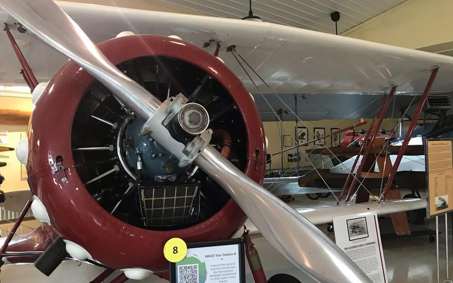 A 1929 WACO Taperwing, on display at the WACO Air Museum in Troy, Ohio.