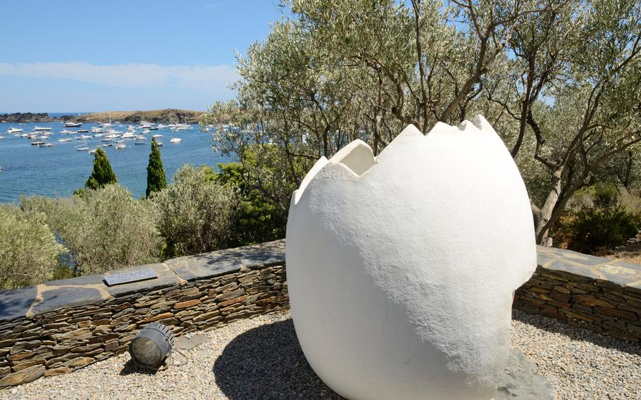 Salvador Dali's adult home on the shore of Port Lligat, Spain, includes big white egg sculptures on the roof. Guides say they were a link to Dali's older brother, who died in infancy just before Dali was born.