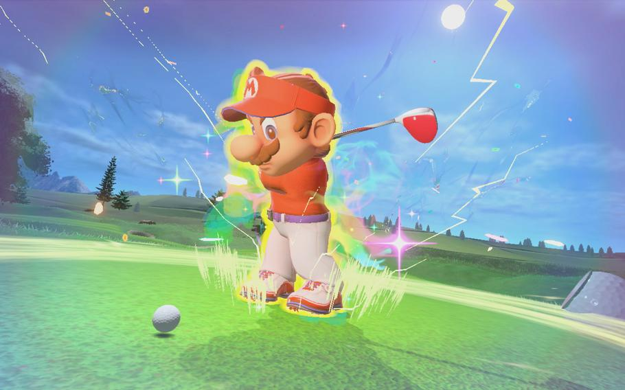 Turning on Mario Golf: Super Rush's motion controls— which let you swing the Joy-Cons as if you were swinging a golf club— brings the game to your living room.