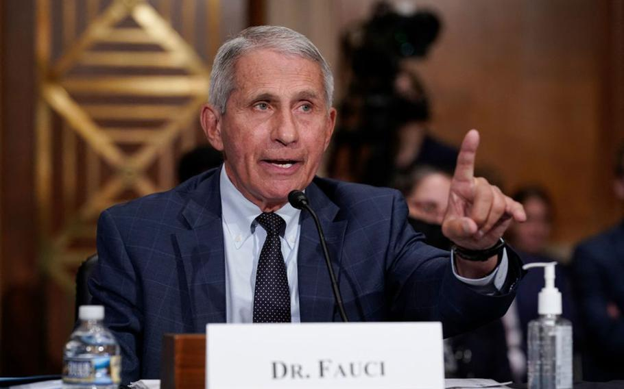 Dr. Anthony Fauci, director of the National Institute of Allergy and Infectious Diseases, responds to questions by Senator Rand Paul during the Senate Health, Education, Labor, and Pensions Committee hearing on Capitol Hill in Washington, D.C., on July 20, 2021.
