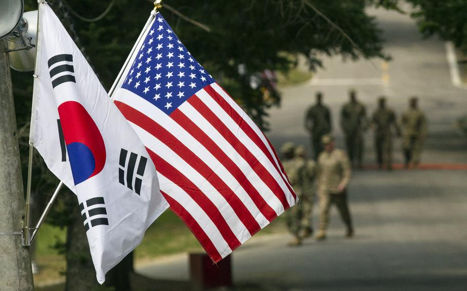 Roughly 28,500 U.S. troops are stationed in South Korea, most of them at Camp Humphreys, the largest U.S. military bases overseas and headquarters for U.S. Forces Korea.