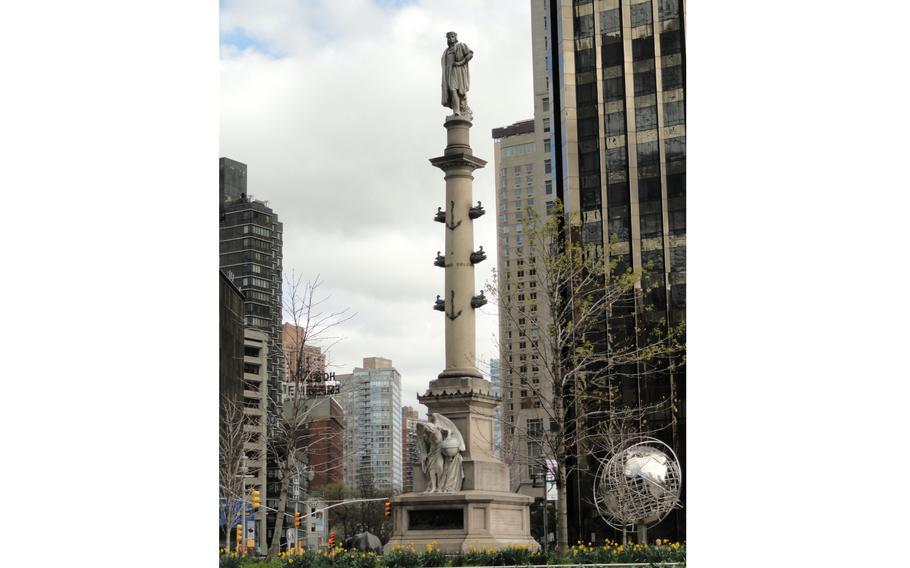 The Columbus Monument in New York's Columbus Circle.