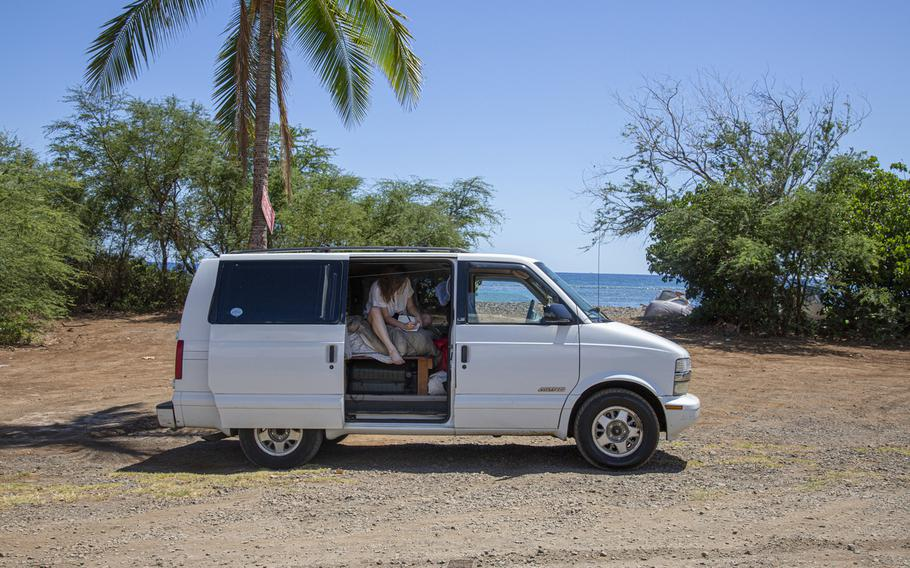 Reporter Natalie Compton tests out the van life in Maui.