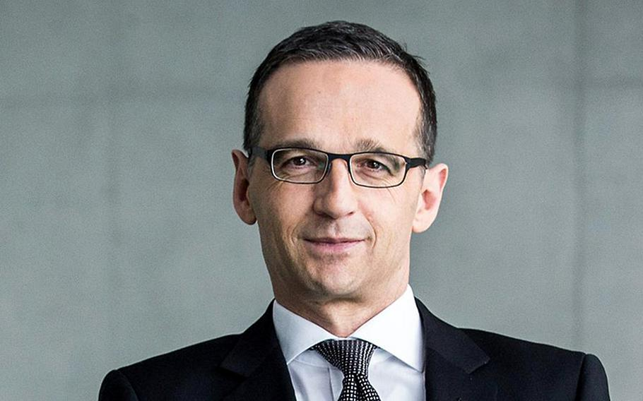 German Foreign Minister Heiko Maas says the practice of local tax offices attempting to levy income tax penalties on  U.S. troops in the country is doing damage to relations with Washington and putting the American troop presence at risk.  Jesco Denze/German government