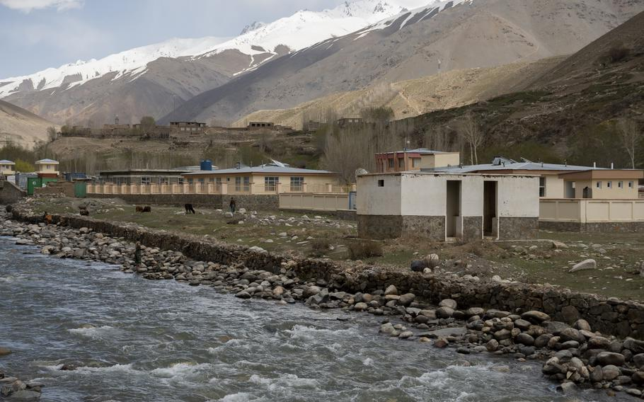 A river flows past Parian district center in Panjshir province, Afghanistan, on April 27, 2021. People there are credited with preventing the Taliban from entering the province in 2019.   Phillip Walter Wellman/Stars and Stripes