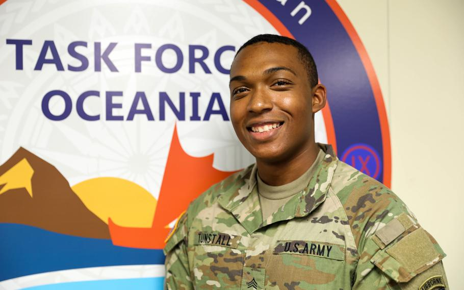 Sgt. Anthony Tunstall, assigned to U.S. Army Pacific Task Force Oceania (TF-O), saved a young boy from drowning during an enculturation training at the Polynesian Cultural Center (PCC) Wednesday, Aug. 11.