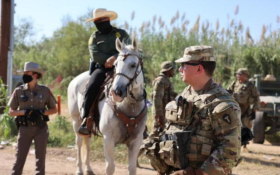 The Texas National Guard will send 1,500 additional troops to the state's border with Mexico during the next month to conduct a border security mission under the direction of Gov. Greg Abbott. The troops join about 1,000 Texas Guard members already deployed.