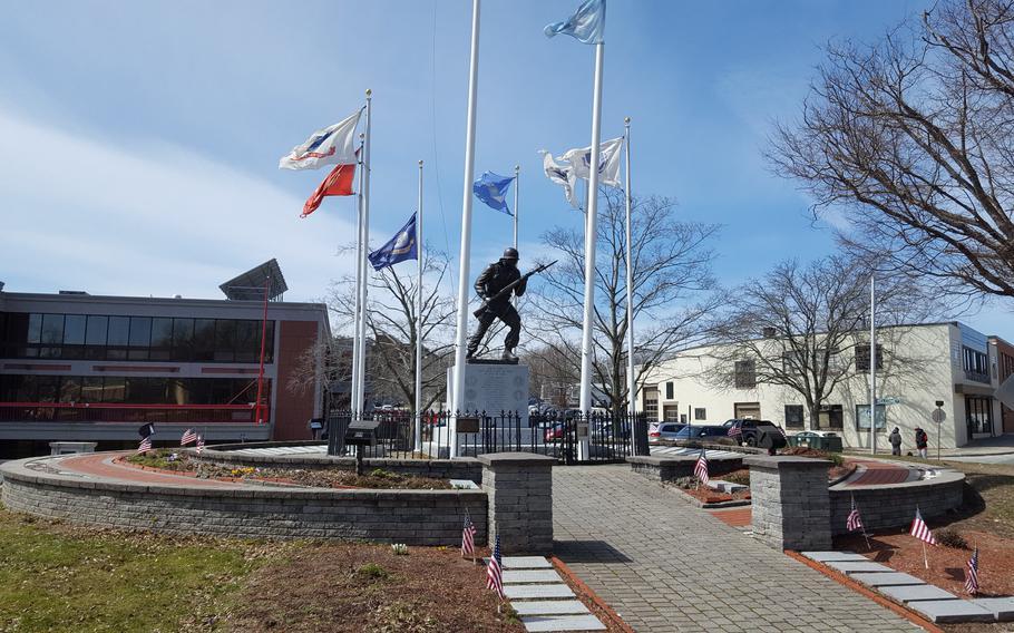 The Korean War Memorial in GAR Park, Haverhill, Mass.