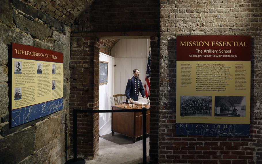 The Casemate Museum on Fort Monroe has updated and changed exhibits as it prepares to reopen to the public Friday, June 18, 2021.