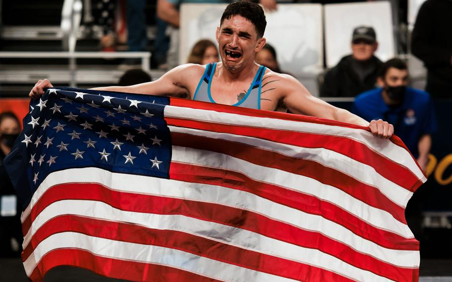 Spc. Alejandro Sancho earned his spot on the U.S. Olympic Wrestling Team in the men's Greco-Roman 67kg weight class at the 2021 U.S. Wrestling Olympic Trials, April 2-3, in Fort Worth, Texas.