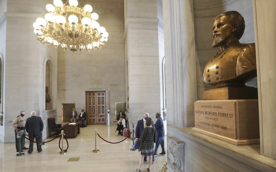 A required 4-month waiting period for the removal of a Nathan Bedford Forrest bust from the Tennessee Capitol building expired on July 9, but if and when it will be removed is still uncertain, the Chattanooga Times Free Press reported. Top Republican lawmakers say the removal request should have gone through the State Building Commission but didn't.