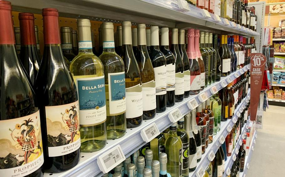A policy update that took effect Monday, June 28, 2021, limits monthly on-base wine purchases to 15 standard-size bottles for U.S. Forces Korea sponsors.