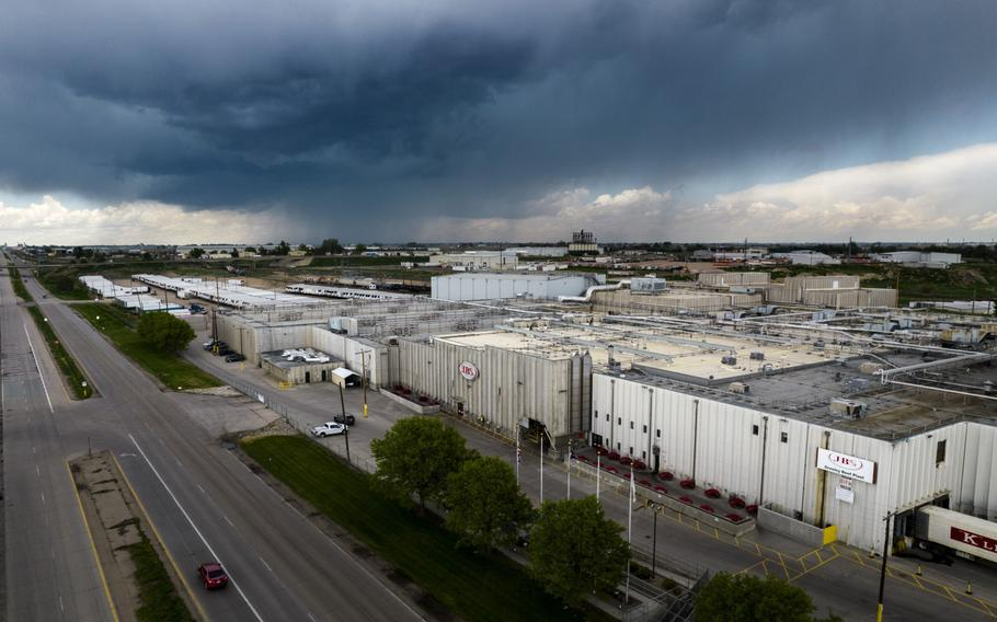 The JBS Beef Production Facility in Greeley, Colo., on June 1, 2021.