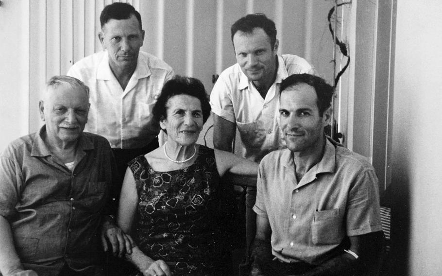 The Gans family in Israel after the war.