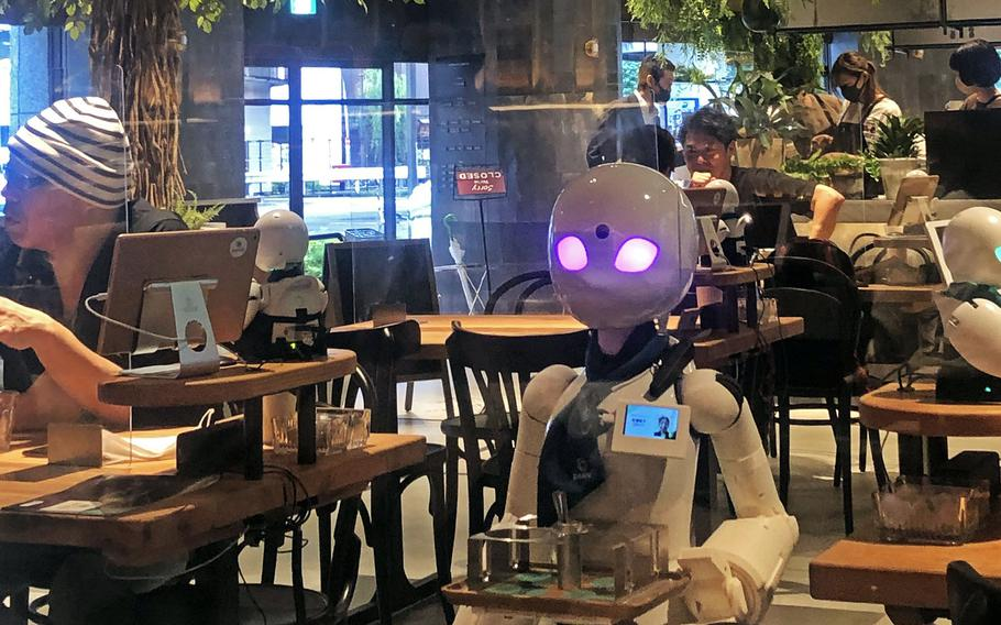 Dawn Avatar Robot Café in Tokyo features a robot waitstaff remotely manned by people who are bedridden, wheelchair users or otherwise disabled.