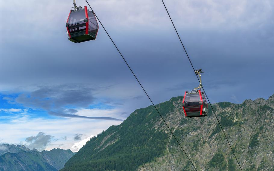 Ascend to great heights on the Fellhorn mountain peak, which straddles the German-Austrian border, by cable car.