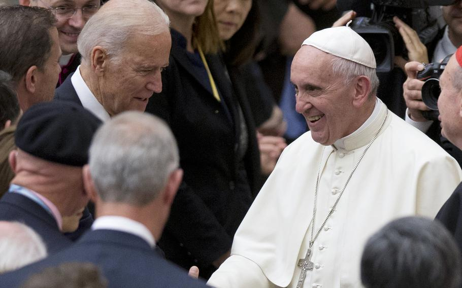 President Joe Biden is set to meet Pope Francis when he visits the Vatican later this month as part of a five-day swing through Italy and the U.K. for global economic and climate change meetings.