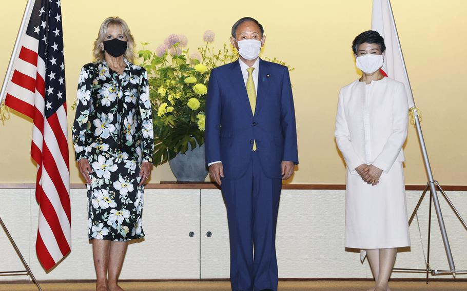 First lady of the U.S. Jill Biden embarked on her first solo international trip as first lady, leading a U.S. delegation to the Olympic Games in Tokyo, where the coronavirus is surging and COVID-19 infections have climbed to a six-month high.