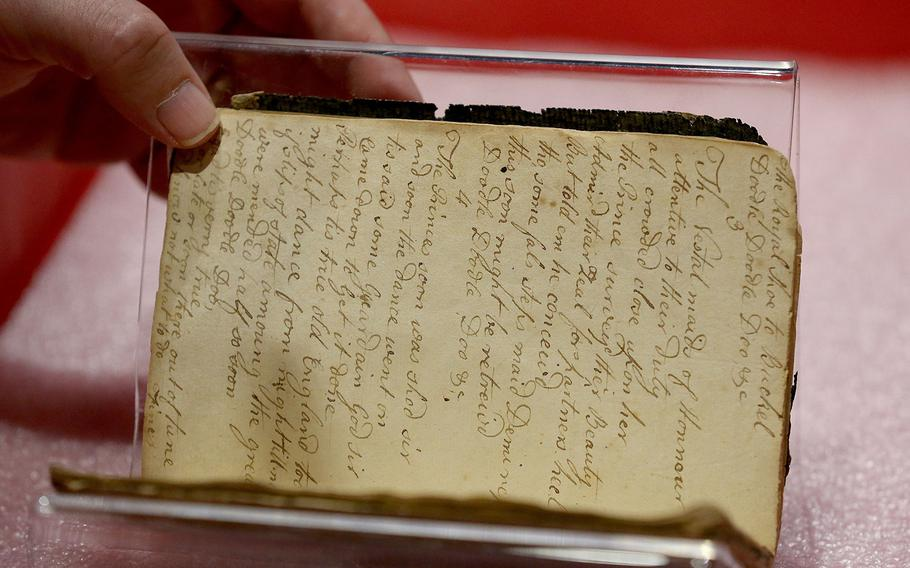 The diary of John Claypoole at the Museum of the American Revolution.